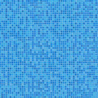 Blaues keramikmosaik. nahtlose kippbare textur.
