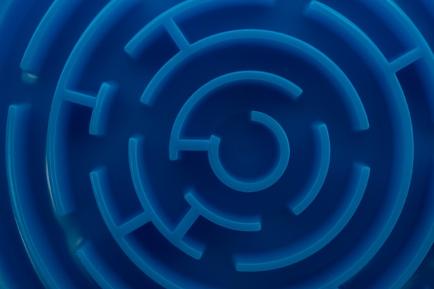Blaues labyrinth als business problemlösung konzept.