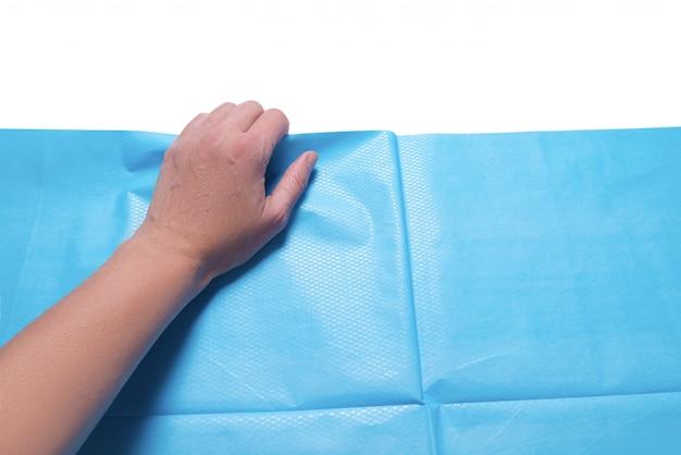 Blaues medizinisches doppelpapierblatt