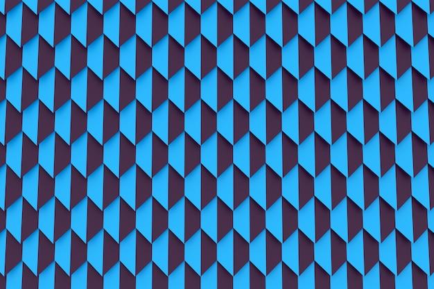 Blaues muster der 3d-illustration im geometrischen zierstil