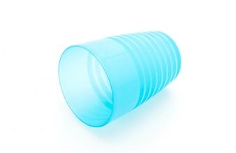 Blaues Plastikglas