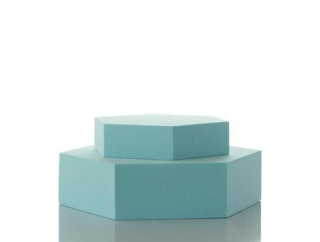 Blaues podium für produktpräsentation