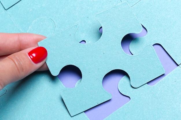Blaues puzzle