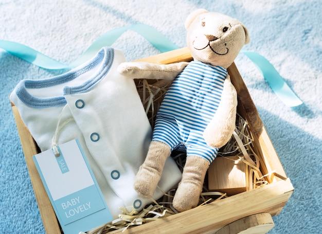 Blaues thema der babyparty