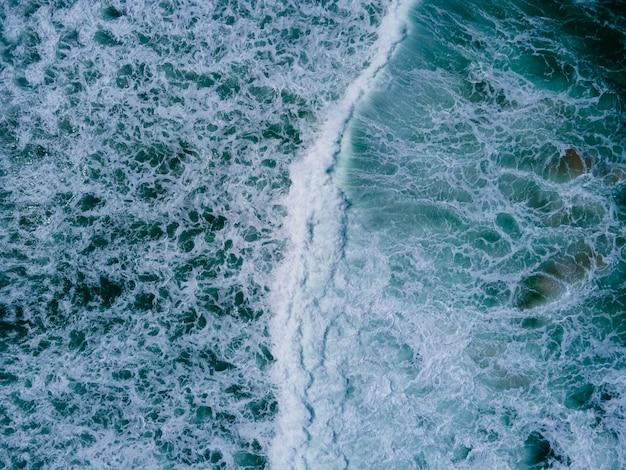 Blaues wasser oberflächenstruktur