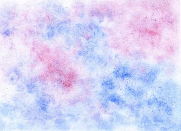 Blaurosa aquarellmalerei flüssiger hintergrund mit marmoreffekt weicher farbdruck auf textilien