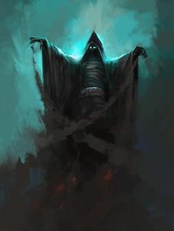 Bleach führt eine magische illustration durch.