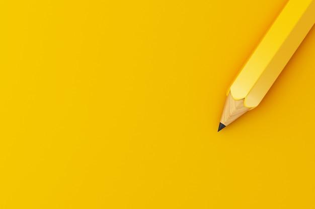 Bleistift des bleis 3d, bildungskonzept.