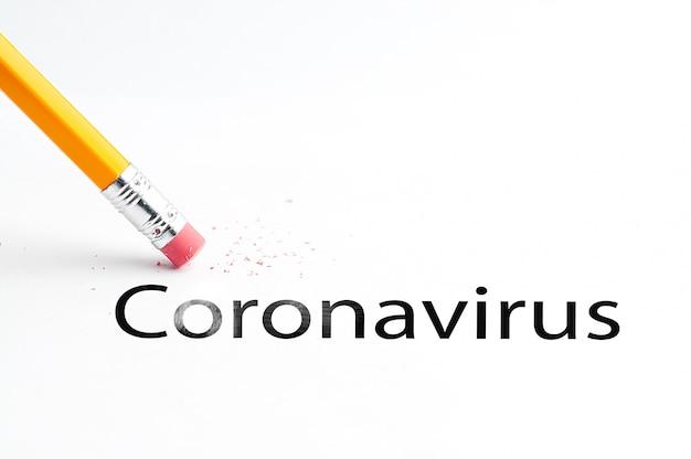 Bleistift mit radiergummi covid-19 coronavirus information bulletin