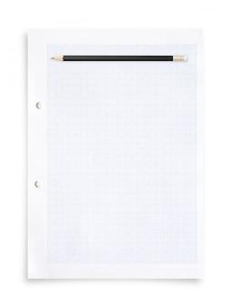 Bleistift und papierblatt.