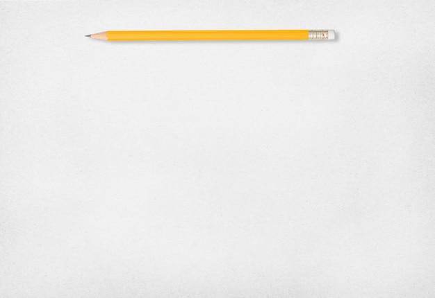 Bleistift- und weißbuchhintergrund.