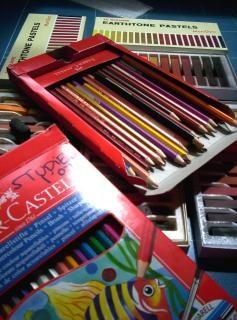 Bleistifte und zeug