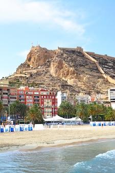 Blick auf alicante, costa blanca, spanien