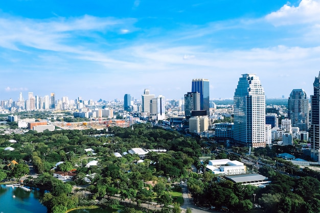 Blick auf bangkok stadt