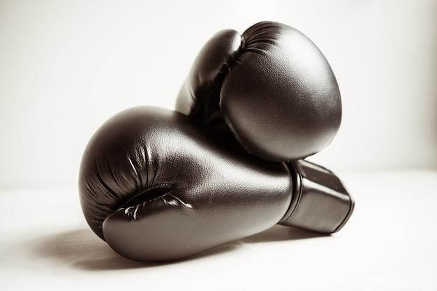 Blick auf boxhandschuhe