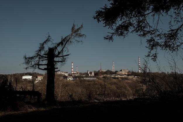 Blick auf das erste atomkraftwerk der welt in obninsk