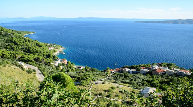 Blick auf das meer in kroatien