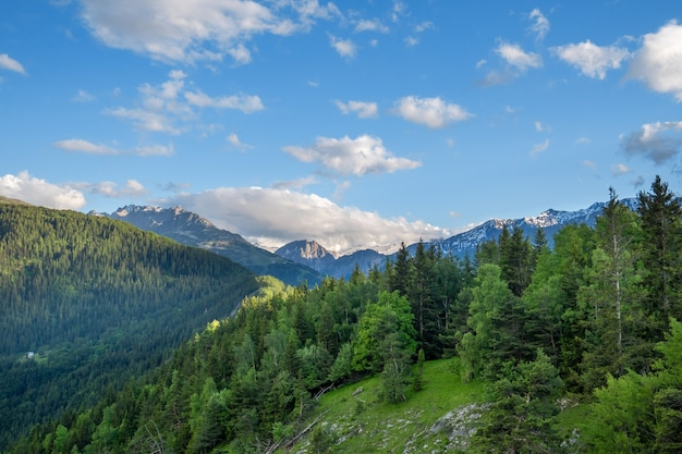 Blick auf das tal de la maurienne, die französischen alpen