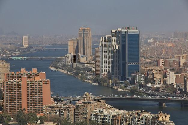 Blick auf das zentrum von kairo