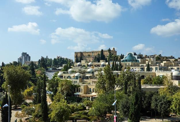 Blick auf den jerusalemer stadtteil yemin moshe
