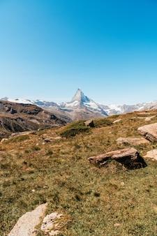 Blick auf den matterhorngipfel in zermatt, schweiz.