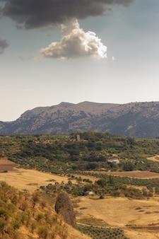 Blick auf den nationalpark sierra de las nieves
