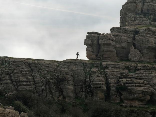 Blick auf den naturpark el torcal de antequera.