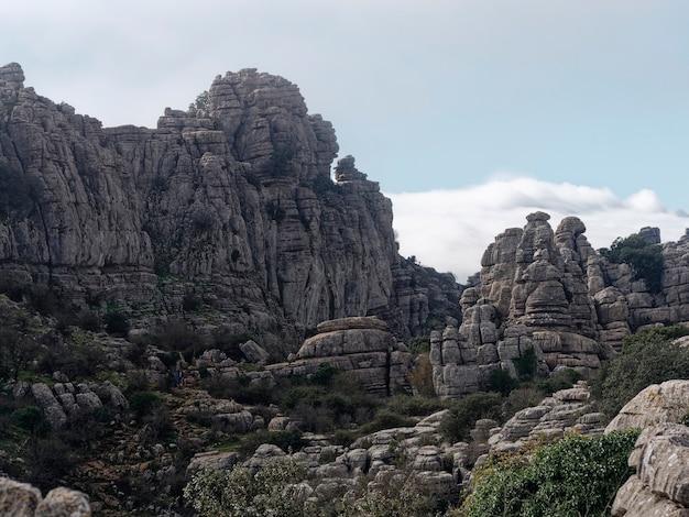 Blick auf den naturpark el torcal de antequera
