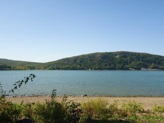 Blick auf den see landschaft