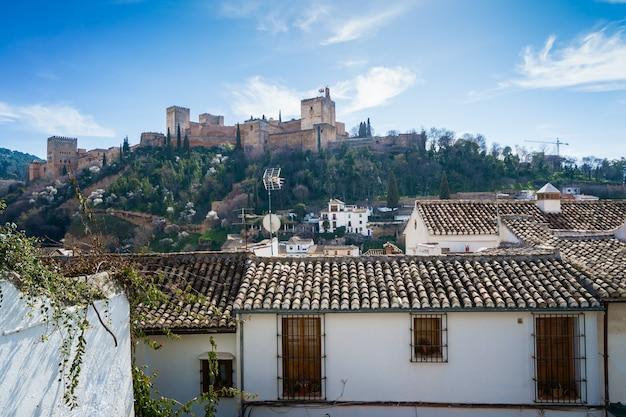 Blick auf die alhambra von granada vom albaicin