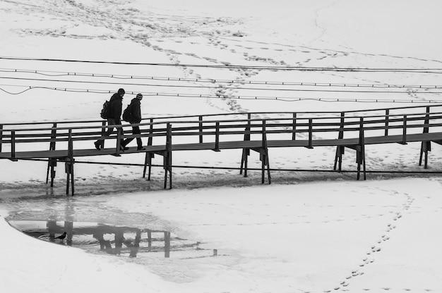 Blick auf die altstadt von kaschin im winter.