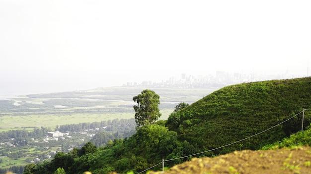 Blick auf die bucht von batumi und das stadtbild in georgia mit skyline an einem sonnigen tag Premium Fotos