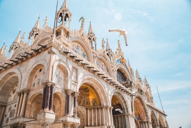 Blick auf die dekoration der basilica di san marco italien venedig