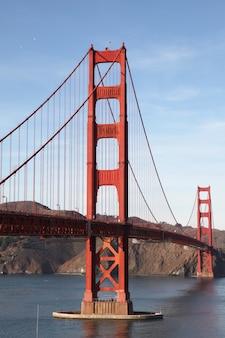 Blick auf die golden gate bridge. san francisco, kalifornien, usa.