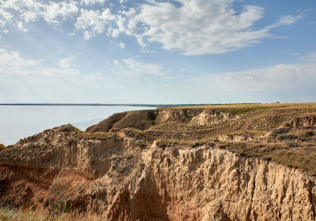 Blick auf die mündung im stanislavsky landscape reserve