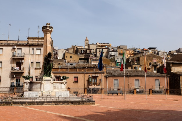Blick auf die piazza armerina
