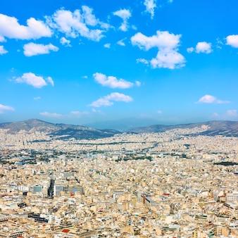 Blick auf die stadt athen vom berg lycabettus, griechenland