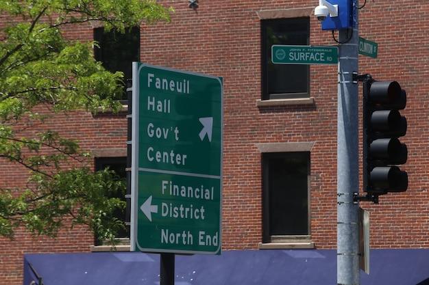 Blick auf die stadt boston in den vereinigten staaten mit schöner landschaft und architektur