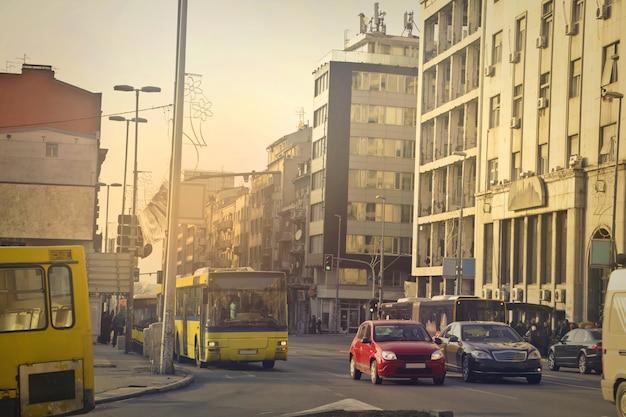 Blick auf die stadtstraße