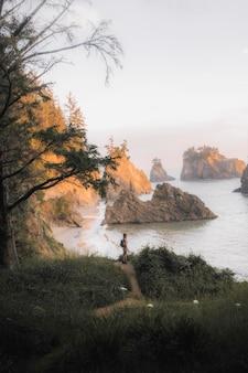 Blick auf die westküste der usa