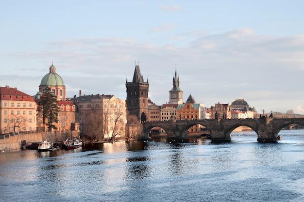 Blick auf eine tschechische stadt