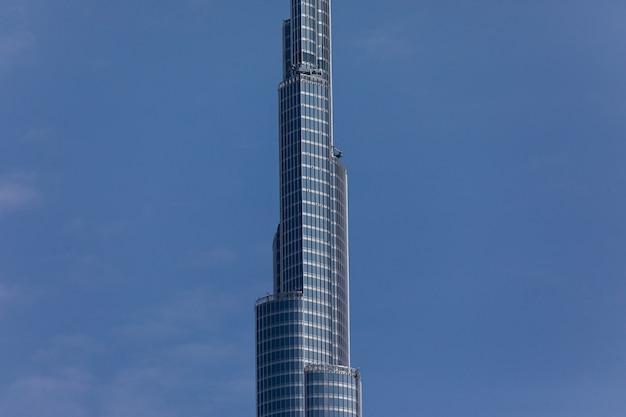 Blick auf einen höchsten turm der welt burj khalifa, dubai vereinigte arabische emirate