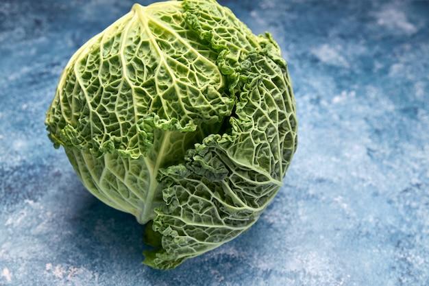 Blick auf frisches grünes gemüse