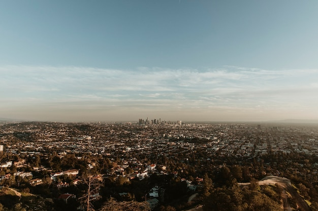 Blick auf los angeles vom griffith observatory, usa