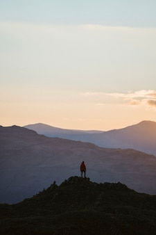 Blick auf loughrigg fell im lake district in england