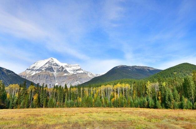 Blick auf mount robson in britisch-kolumbien-kanada