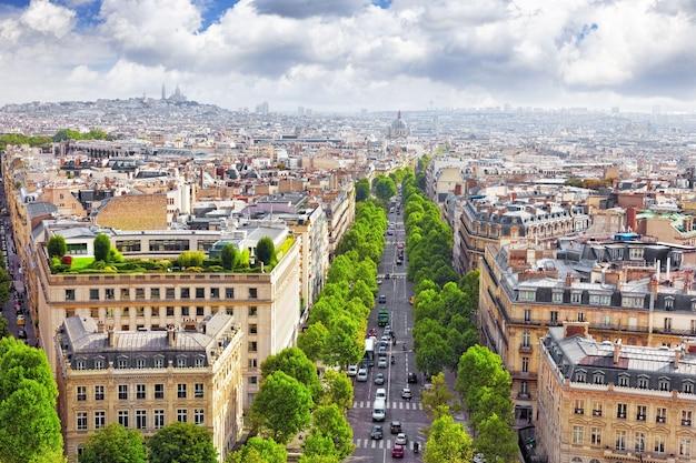 Blick auf paris vom arc de triomphe. .paris. frankreich.