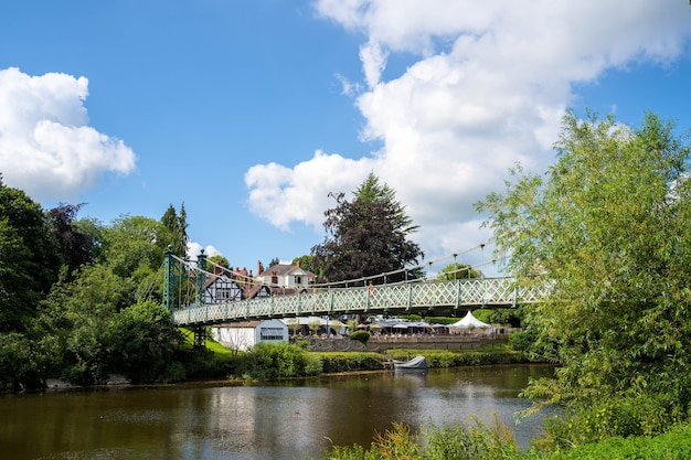 Blick auf porthill bridge in shrewsbury, shropshire, england?