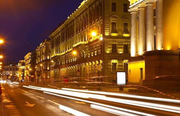 Blick auf st. petersburg in der nacht
