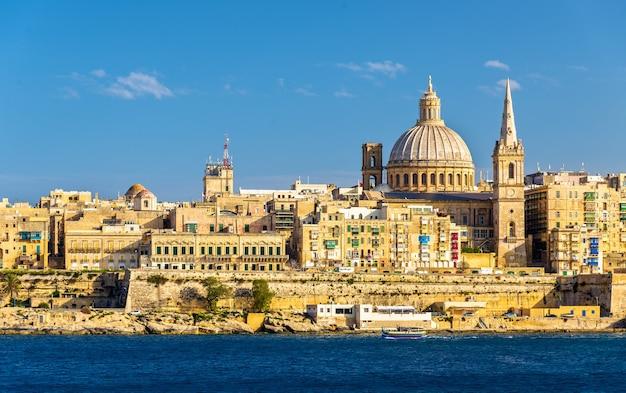 Blick auf valletta, die hauptstadt von malta